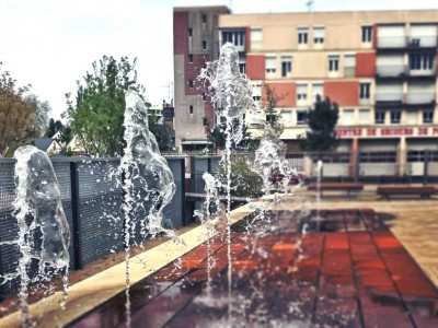 fontaine ludique ornementale seche diluvial fountain mans