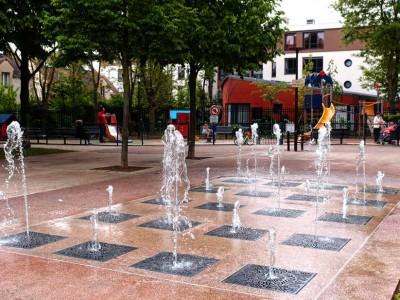 fontaine seche ludique parc central rungis diluvial