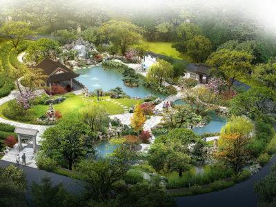 parc chinois cours d'eau rennes