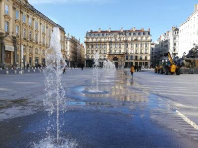 fontaine sèche Place des Terreaux Lyon