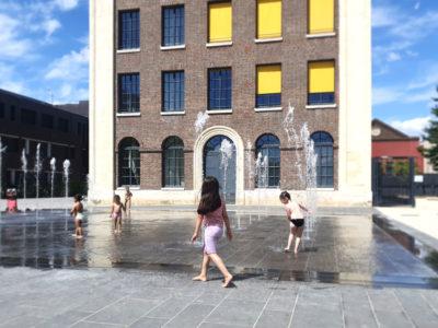 Fontaine de l'avenue Jean Jaurès à Petit Quevilly vue générale de la fontaine
