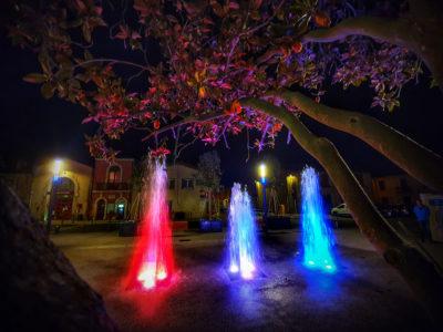Fontaine place de la Ramade à Saint-Brès