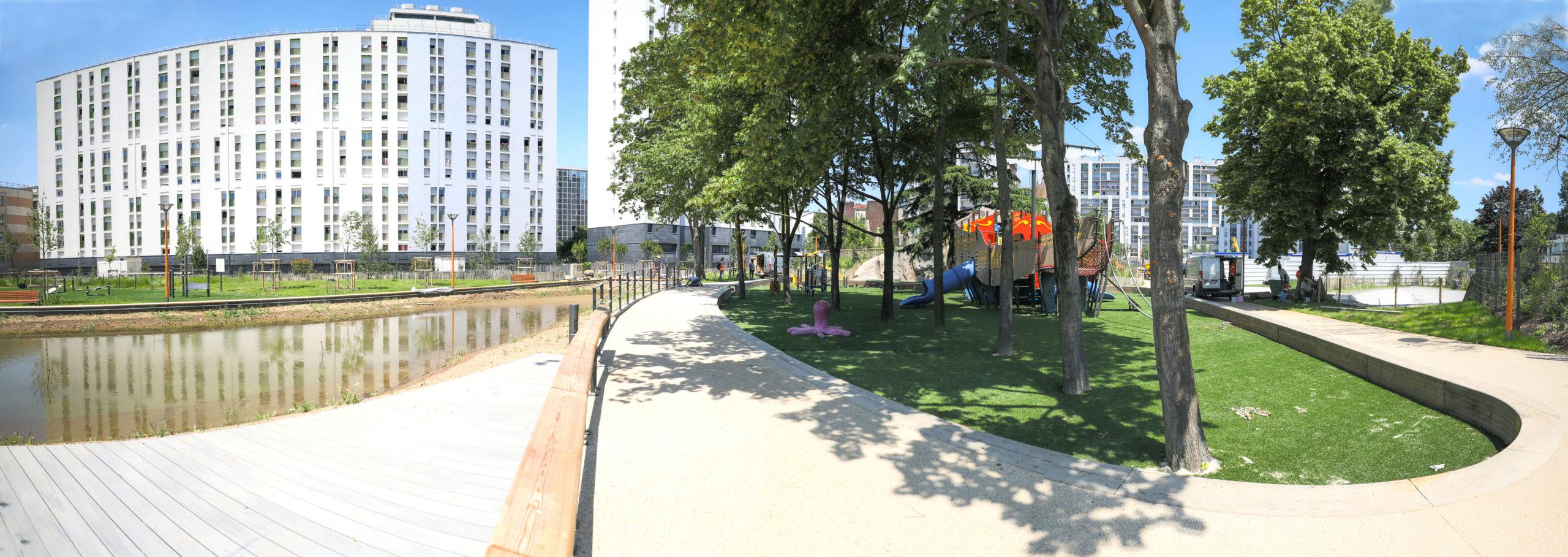 Bassin du parc Diderot