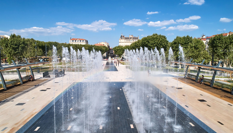 Béziers Jean Jaurès fontaine