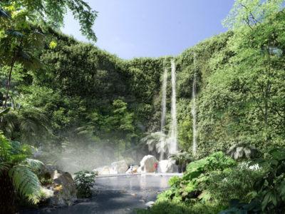 cascade jardin plan eau